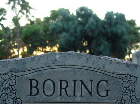 Lápida aburrimiento