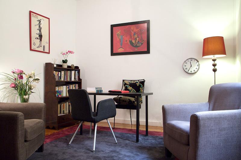 psicólogos Madrid centro, Aesthesis gabinete psicológico, despacho bonito, acogedor, de centro Velázquez
