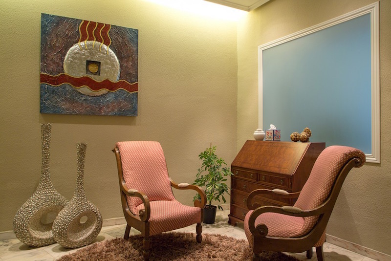 psicólogos Madrid centro, Aesthesis gabinete psicológico, despacho bonito, singular con toques étnicos, de centro San Bernardo