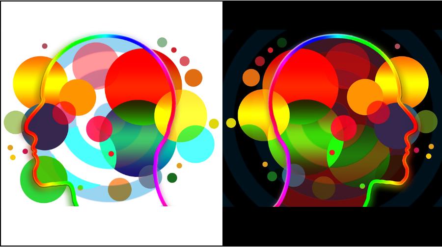 perfeccionismo obsesivo tratamiento, dibujo de dos cabezas enfrentadas