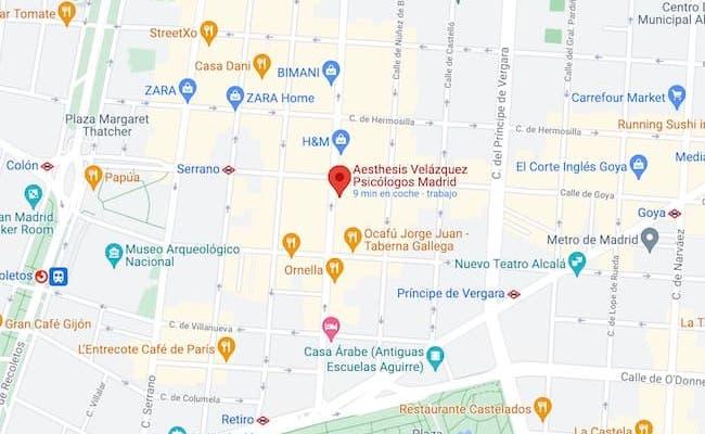 centro psicologia barrio Salamanca Madrid